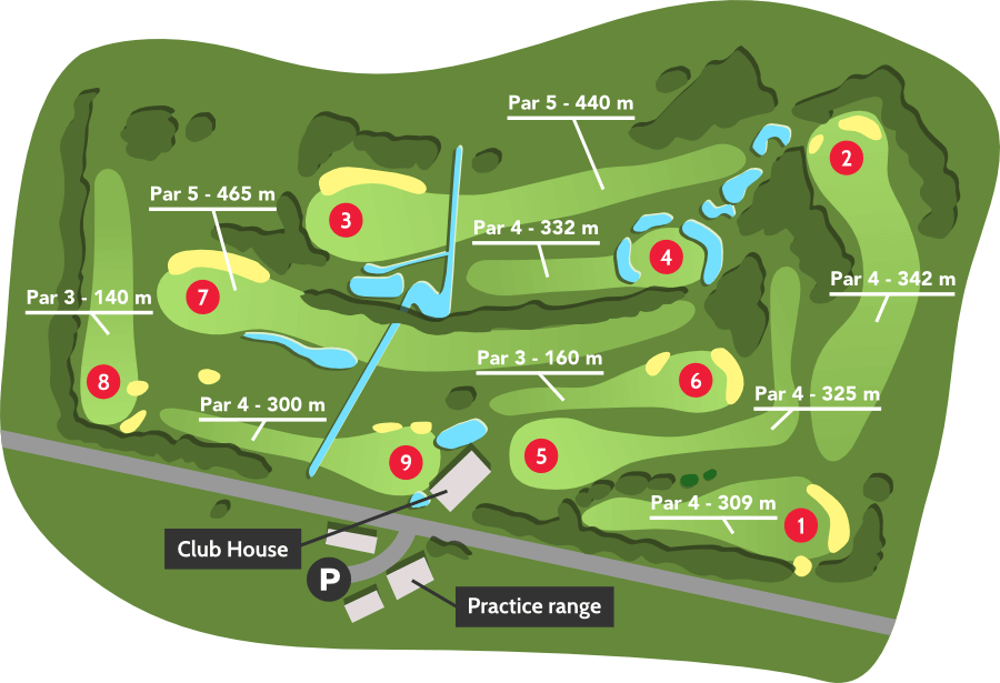 Spring summer golf course - Golf de barthe